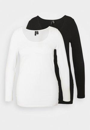 VMPAXI SOFT 2 PACK - Long sleeved top - black/white