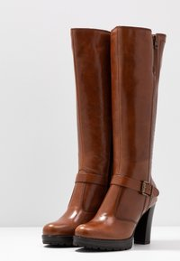 Anna Field - LEATHER BOOTS - High heeled boots - cognac - 4