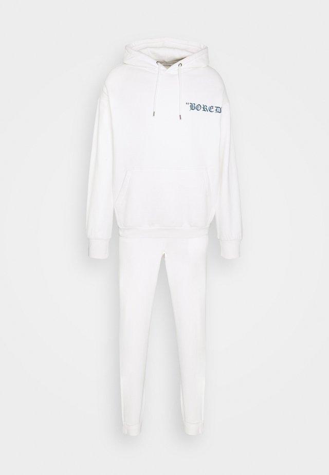 SET UNISEX - Tracksuit - white