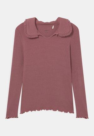 NKFLANKE SLIM - Langærmede T-shirts - deco rose