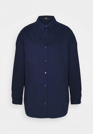 NADJA BLOUSE - Button-down blouse - navy blue