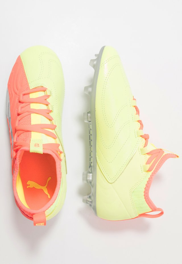 ONE 20.3 FG/AG - Moulded stud football boots - energy peach/fizzy yellow/aged silver