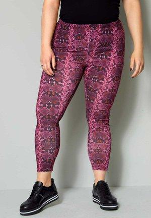 Leggings - Trousers - pink,schwarz