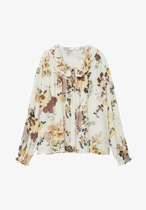 Button-down blouse - multi-coloured