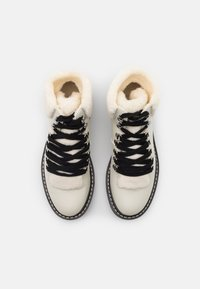 ONLY SHOES - ONLBOLD LACE UP - Ankle boots - offwhite - 5