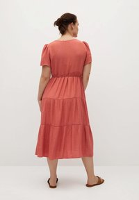 Violeta by Mango - TENCI - Day dress - corail - 2