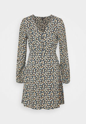 VMMILDA SHORT DRESS - Denní šaty - black/jadeite milda