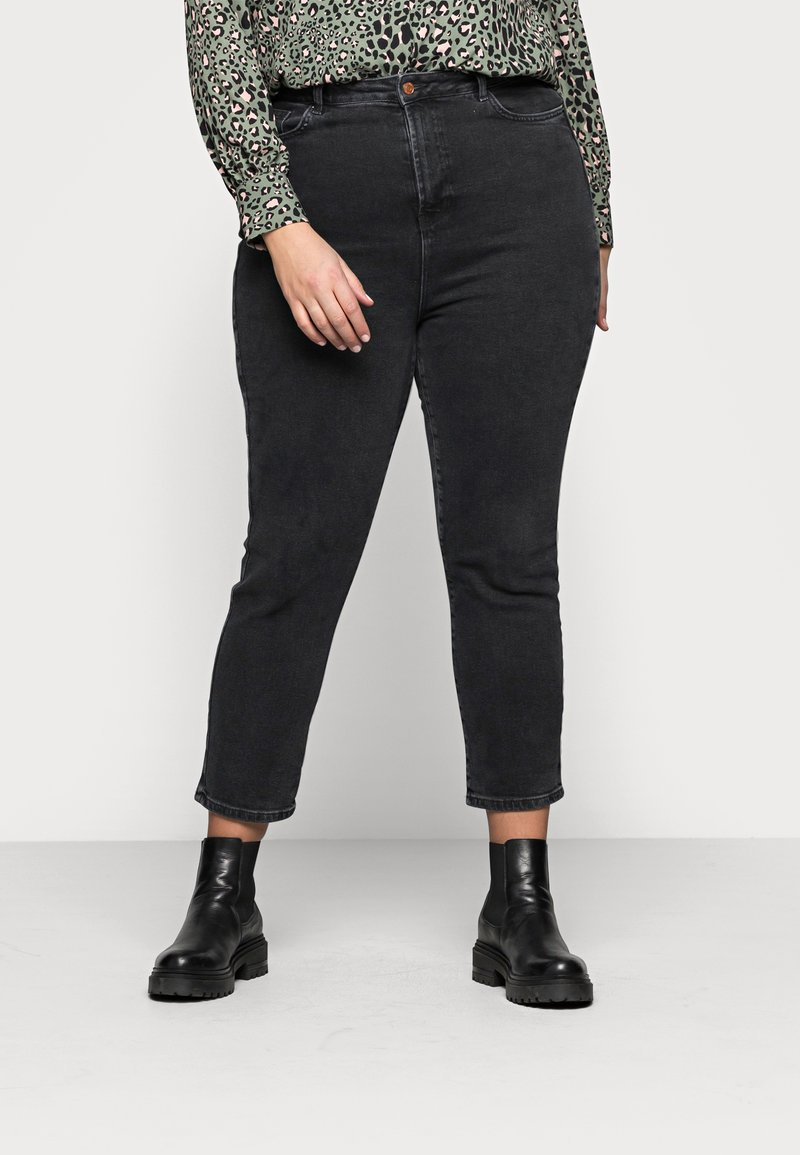 New Look Curves - CAMBODIA - Straight leg jeans - black