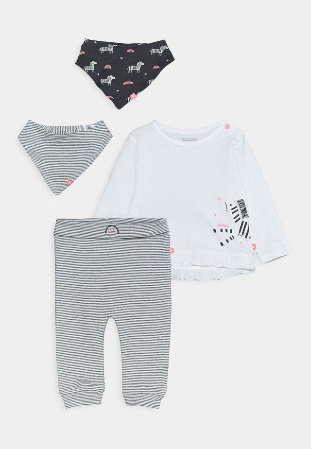 SET - Skjerf - white/dark grey