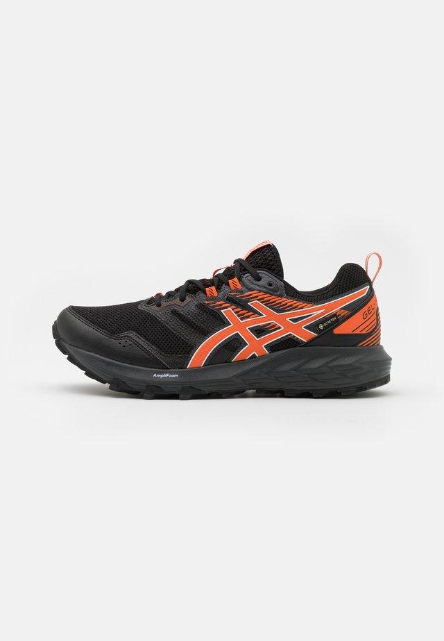 GEL SONOMA 6 GTX - Trail running shoes - black/marigold orange
