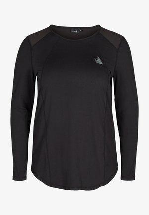 LANGARM MIT RUCKENDETAIL - Långärmad tröja - black