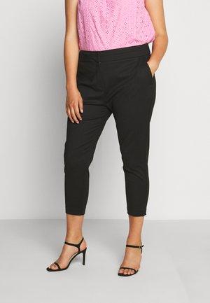 AUDREY HIGH WAIST PANT - Spodnie materiałowe - black