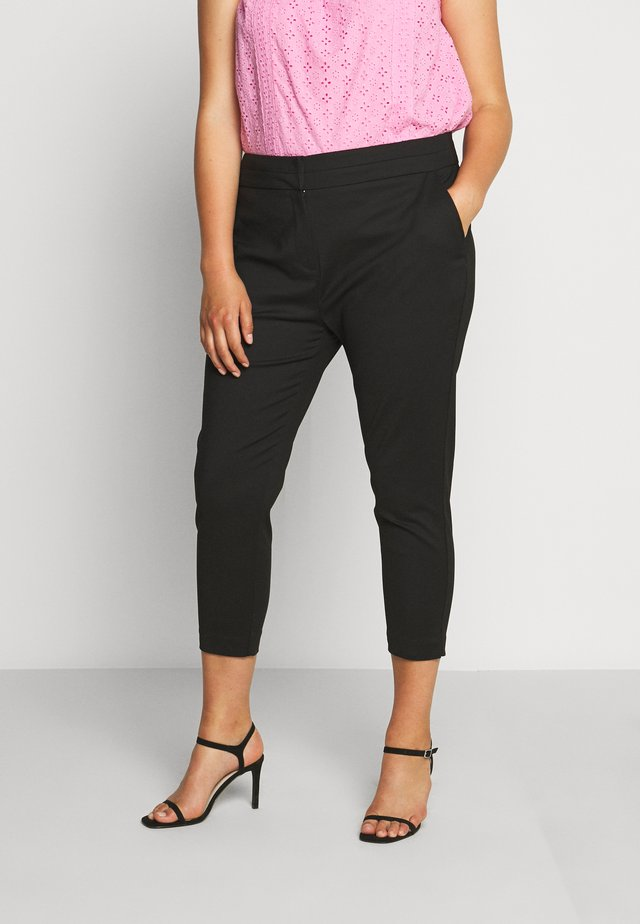 AUDREY HIGH WAIST PANT - Bukser - black