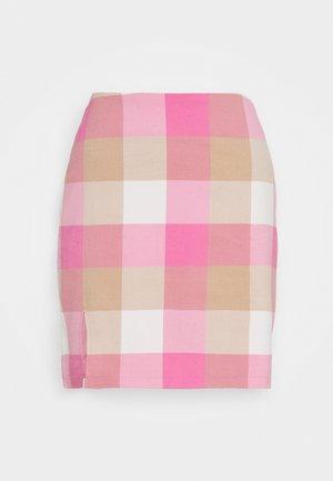 ELIN SKIRT - Miniskjørt - pink/beige