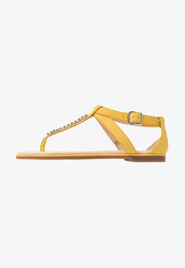 BAY POPPY - Sandalias de dedo - yellow