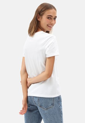 WM BORDER BOX TROP - T-shirt med print - white