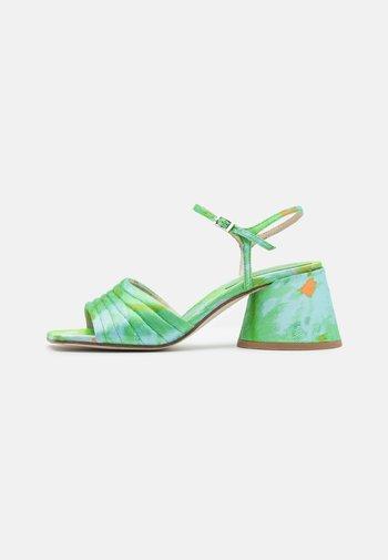Sandals - blue/green metallic