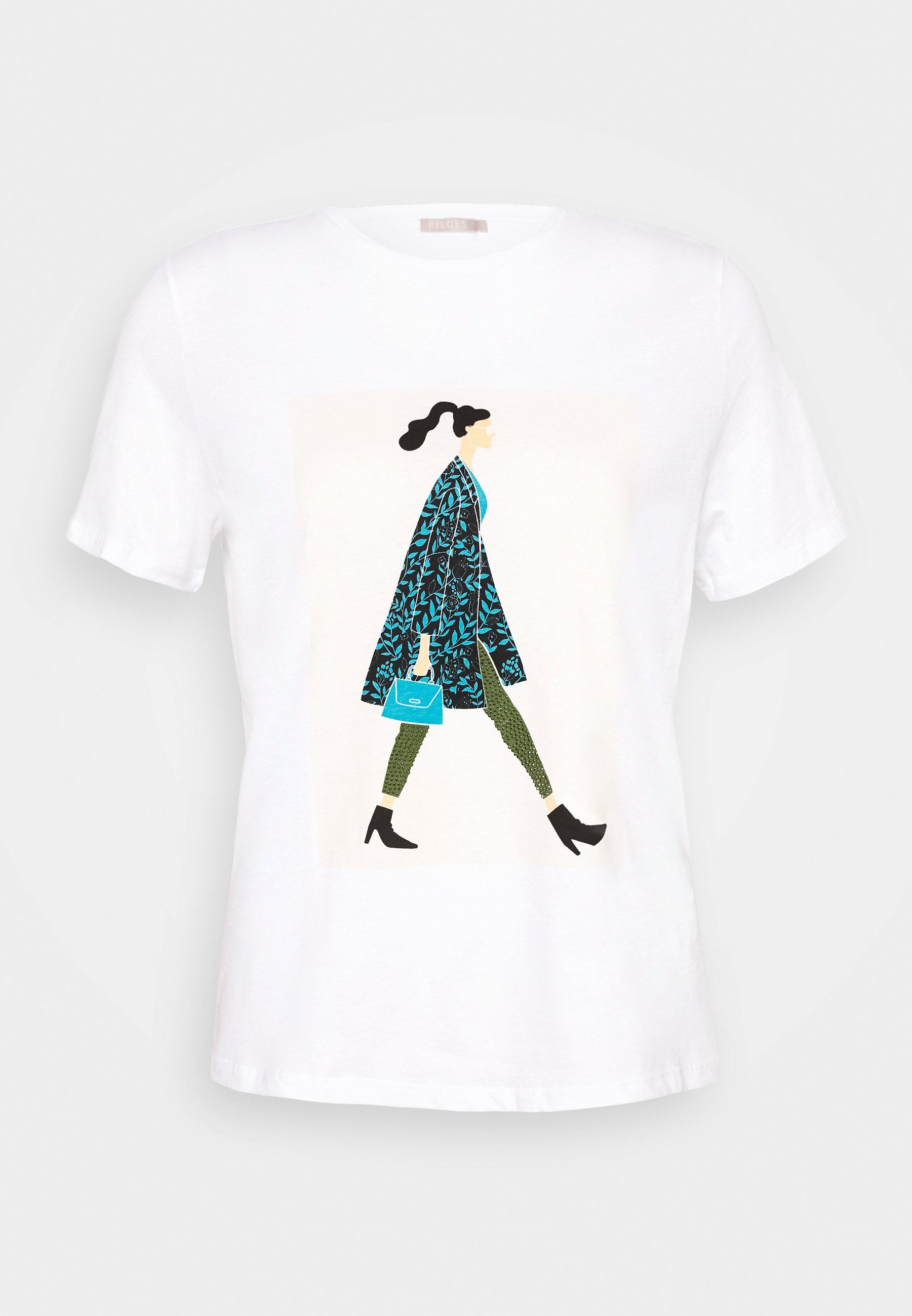 Damen PCSOFIA GLITTER TEE - T-Shirt print