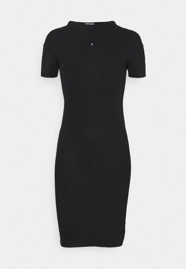 TUBE DRESS - Vestito di maglina - black
