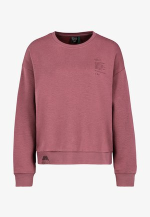 Sweatshirt - dark rose