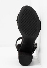 Dorothy Perkins - BLOCK  - Sandaler med høye hæler - black - 6