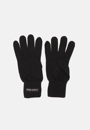 FELT PATCH GLOVES - Gloves - black