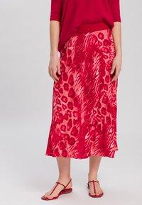 Marc Aurel - A-line skirt - red varied - 0