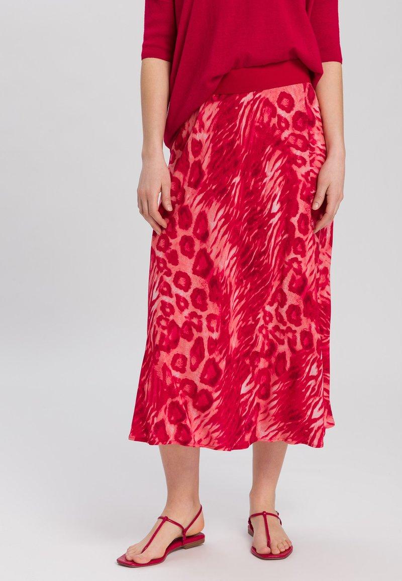 Marc Aurel - A-line skirt - red varied