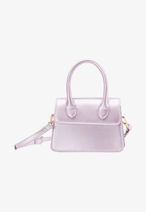 Handbag - lilac metallic