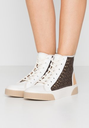 GERTIE STUDDED TOP - Sneakersy wysokie - brown