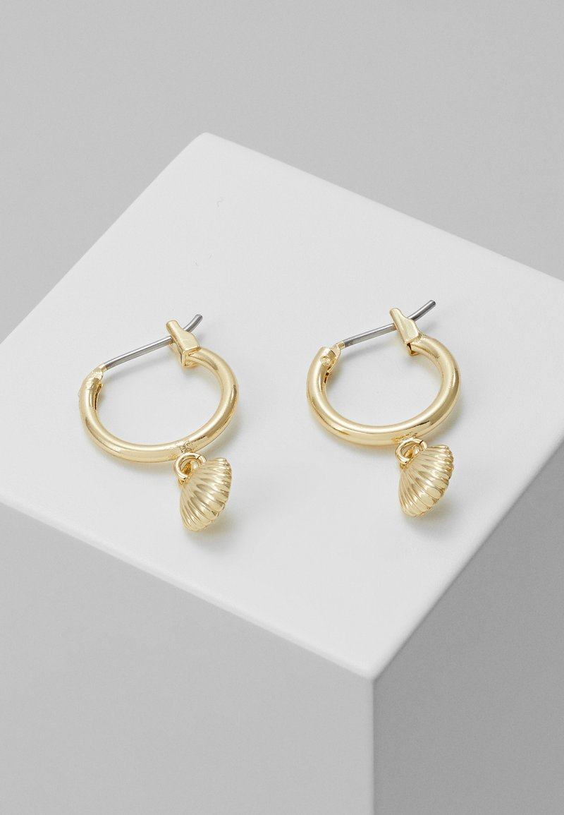 SNÖ of Sweden - MINNA SMALL RING SHELL - Earrings - rosegold-coloured