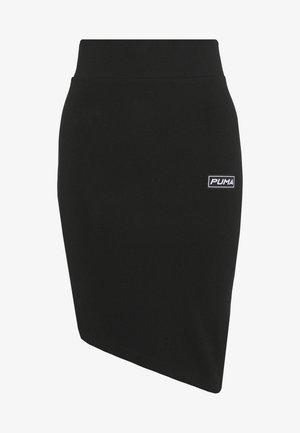 MIDI ASSYMETRIC SKIRT - Pencil skirt - black