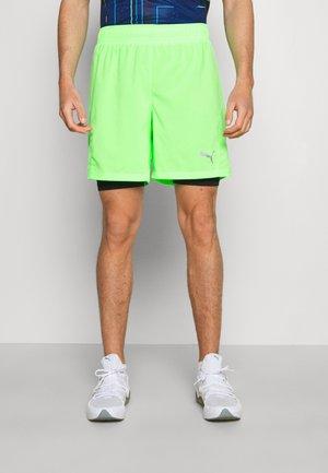 RUN FAVORITE SHORT - Sportovní kraťasy - elektro green