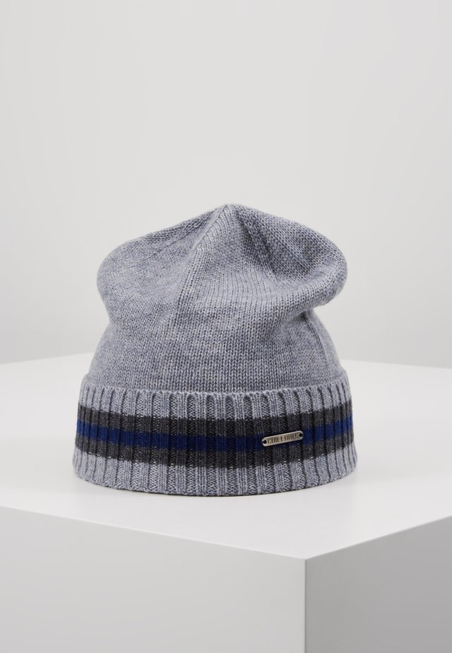 BRAD - Beanie - light grey/navy