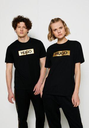 DIRAGOLINO METALLIC UNISEX - Print T-shirt - black/gold