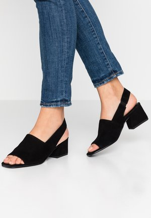 ELENA - Sandaalit nilkkaremmillä - black