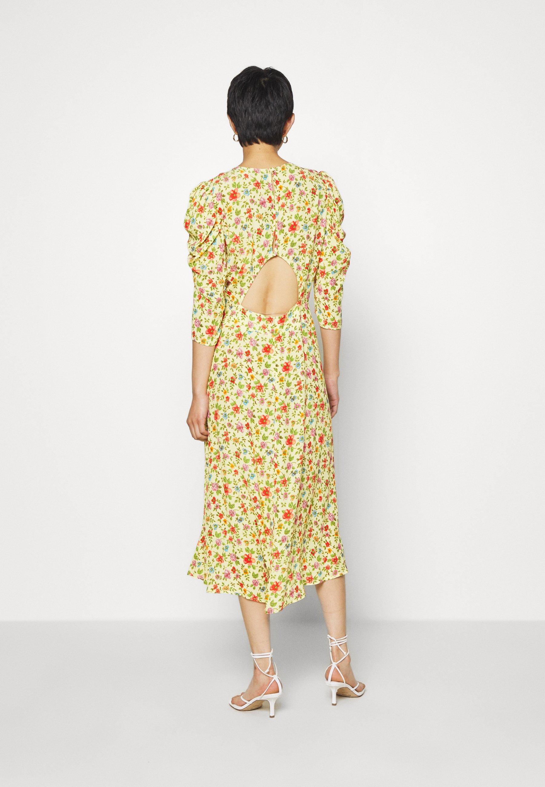 Ghost MIRA DRESS Cocktailkleid/festliches Kleid yellow/gelb