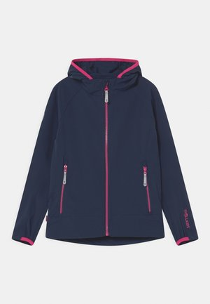 GIRLS KVALVIKA - Soft shell jacket - navy/magenta