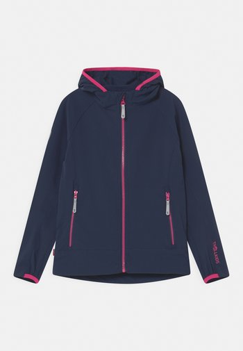 GIRLS KVALVIKA - Soft shell jacket - navy/magenta