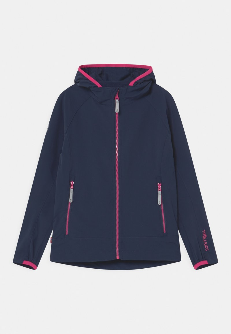 TrollKids - GIRLS KVALVIKA - Soft shell jacket - navy/magenta
