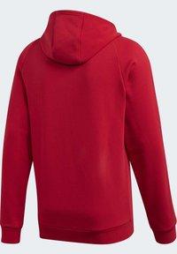 adidas Performance - CORE 19 HOODIE - Huvtröja med dragkedja - red - 10