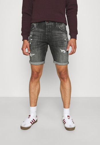JJIRICK JJFOXSHORTS - Denim shorts - black denim