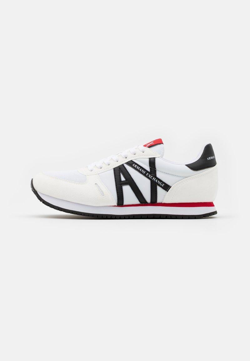 Armani Exchange - RIO - Sneakersy niskie - white/red/blue