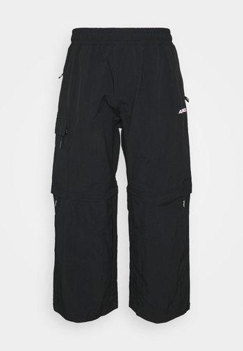 SIDEWALK UNISEX ZIP OFF PANT - Pantalon cargo - black