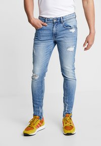 Redefined Rebel - STOCKHOLM DESTROY - Slim fit jeans - soft blue - 0