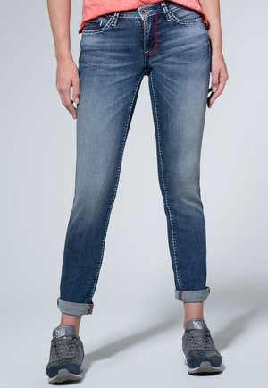 MIT GERADEM BEIN RO:MY - Slim fit jeans - blue denim