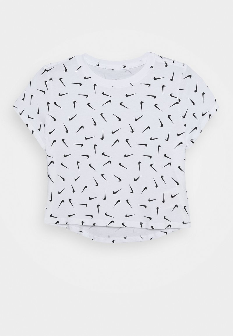 Nike Sportswear - TEE CROP - T-shirt print - white/black