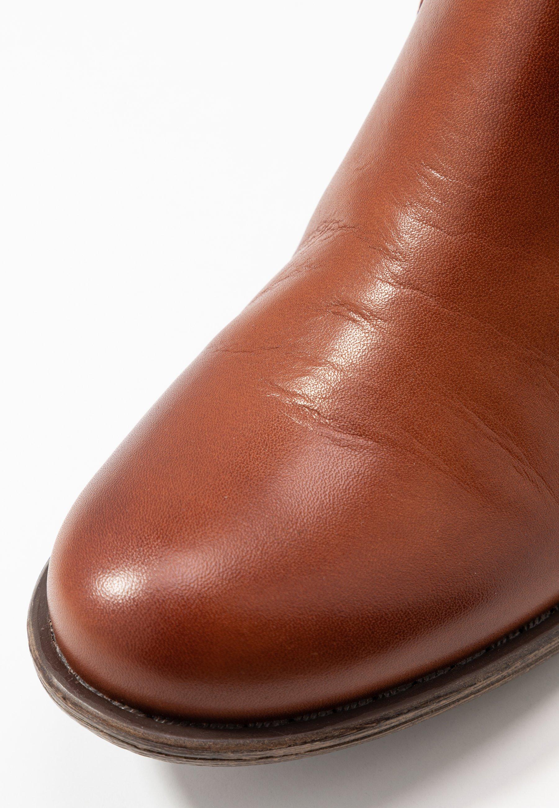 Anna Field LEATHER BOOTIES - Nilkkurit - cognac - Naisten kengät 7tE7X