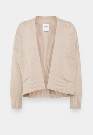IN SLIDE SLIT CARDI - Cardigan - doeskin