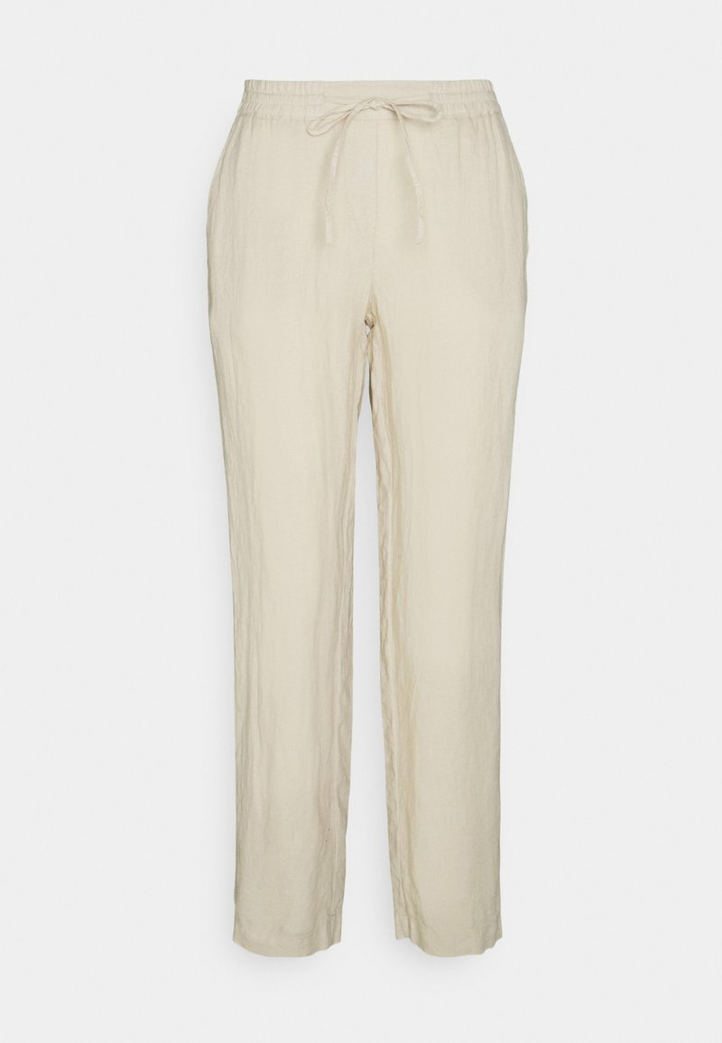 Marc O'Polo - PANTS SMART STYLE STRAIGHT LEG - Trousers - summer taupe